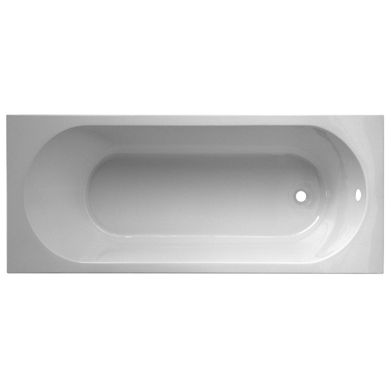 Baignoire Rectangulaire L 140x L 70 Cm Blanc Nerea Leroy Merlin