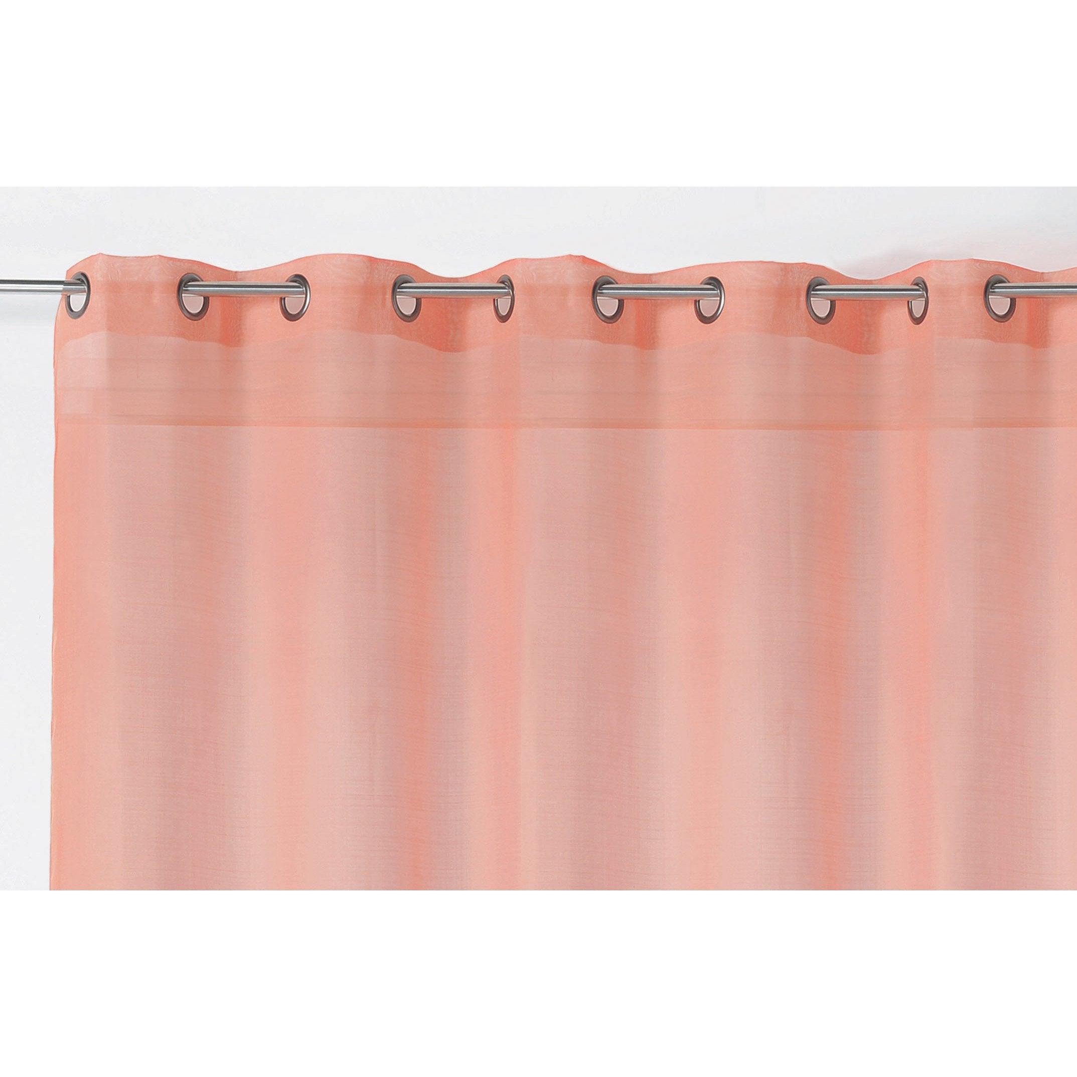 Comment Faire La Couleur Saumon voilage tamisant, etamine givrée, saumon, l.300 x h.240 cm