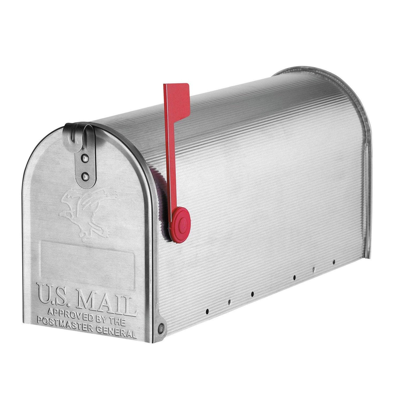 Boîte Aux Lettres Américaine 1 Porte Ext Decayeux Chicago Aluminium Gris Mat