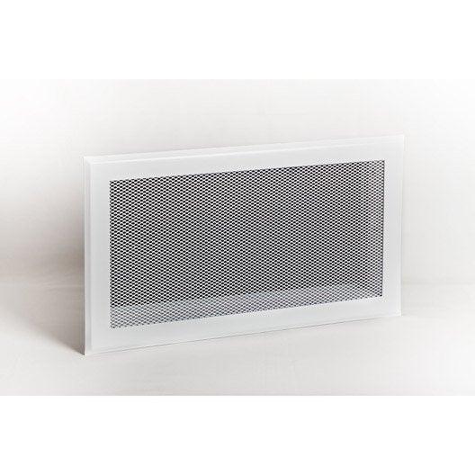 kit de grilles d'aération pour cheminées acier equation, l.19.5 x