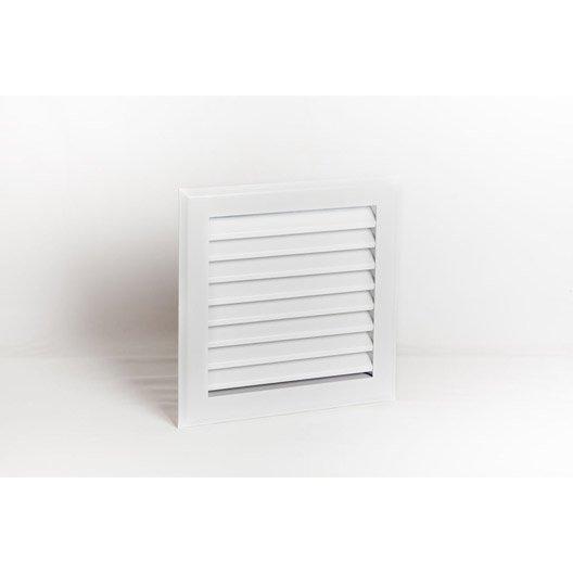 grille de ventilation obturable à lamelles acier equation diam