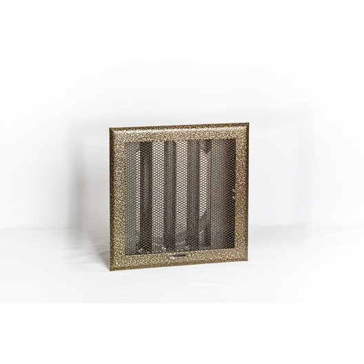 Grille de ventilation obturable acier equation mm - Grille ventilation cheminee ...
