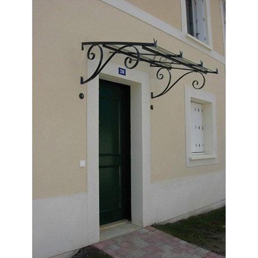 marquise en fer galvanis s vign haut 53cm x larg cm leroy merlin. Black Bedroom Furniture Sets. Home Design Ideas