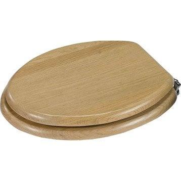 abattant wc sensea karmel imitation bois ch ne. Black Bedroom Furniture Sets. Home Design Ideas
