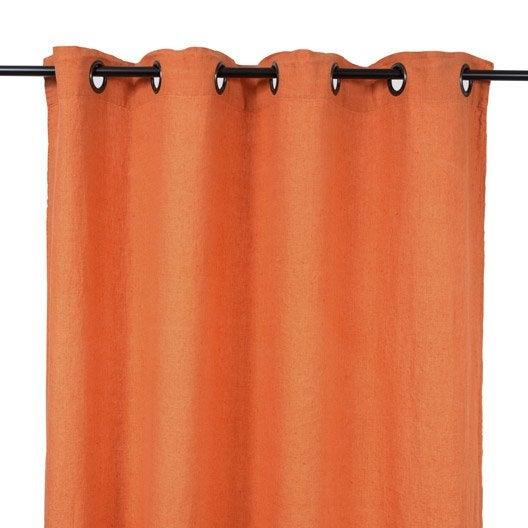 rideau propriano orange potiron x cm leroy merlin. Black Bedroom Furniture Sets. Home Design Ideas