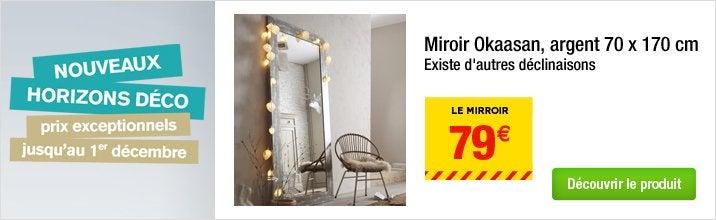 Miroir okaasan argent 70 x 170 cm for Miroir 70x170