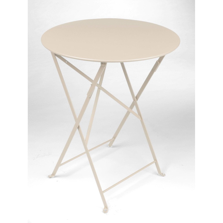 table de jardin fermob bistro ronde lin 2 personnes leroy merlin. Black Bedroom Furniture Sets. Home Design Ideas