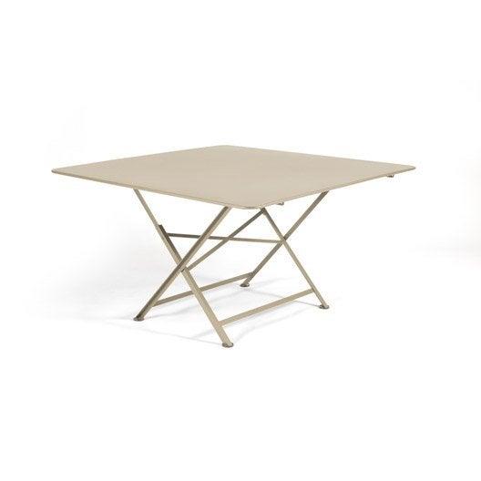 table de jardin fermob cargo carr e muscade 8 personnes leroy merlin. Black Bedroom Furniture Sets. Home Design Ideas