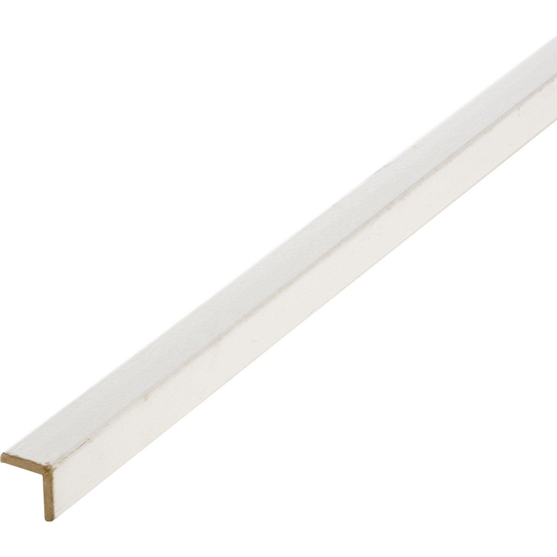Baguette d'angle médium (MDF) arrondie blanc, 28 x 28 mm, L. 2.44 m   Leroy Merlin