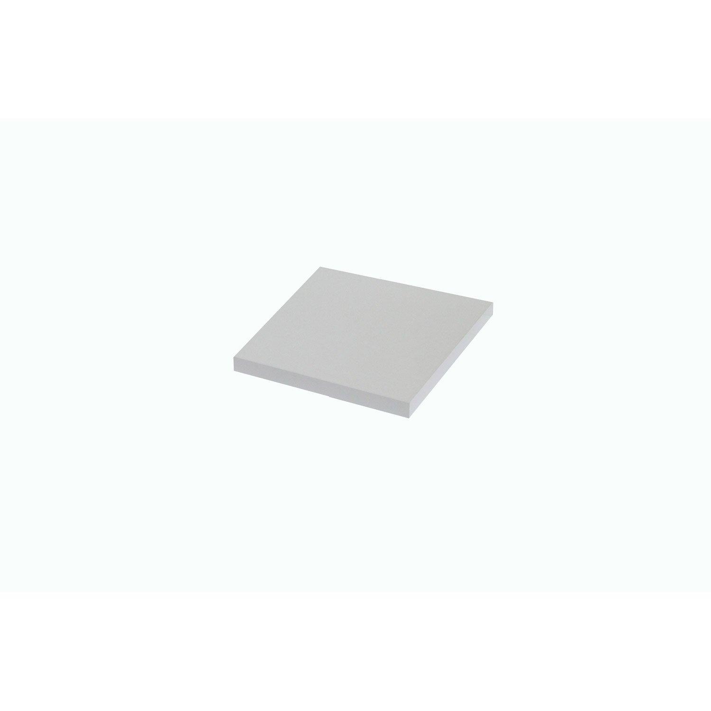 Plan de toilette droit, l.60.4 x H. x P.49cm, Blanc-Blanc 0, Remix