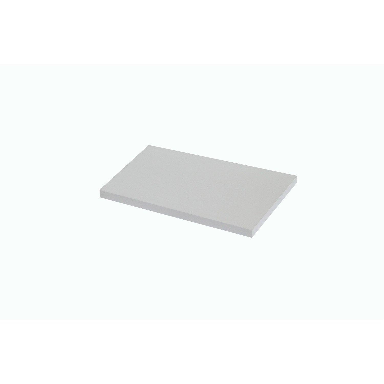 Plan de toilette droit, l.90.4 x H. x P.49cm, Blanc-Blanc 0, Remix
