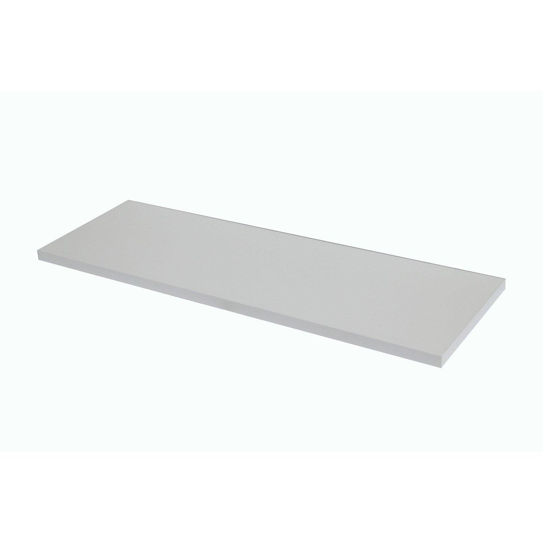 Plan de toilette droit, l.150 x H. x P.49cm, Blanc-Blanc 0, Remix