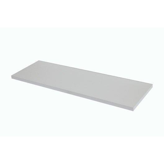 Plan de toilette droit blanc x cm ep 3 8 cm - Plan de toilette leroy merlin ...