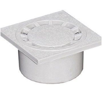 Siphon de cour en pvc FIRST PLAST gris l.14.9 x H.14.9 cm