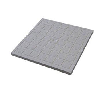 Tampon de sol polypropylène gris FIRST PLAST, L.30 x l.30 cm