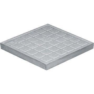 Tampon de sol polypropylène gris FIRST PLAST, L.20 x l.20 cm