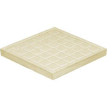 Tampon de sol polypropylène sable FIRST PLAST, L.40 x l.40 cm