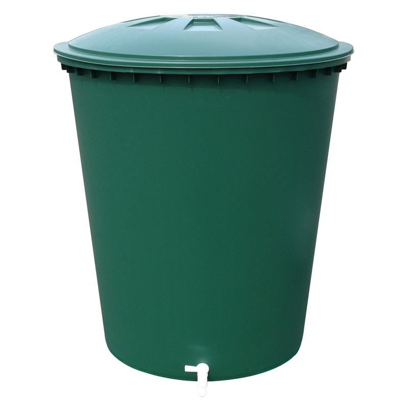 Récupérateur D Eau Aérien Garantia Cylindrique Vert 210 L