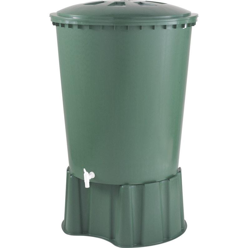 Récupérateur D Eau Aérien Garantia Cylindrique Vert 310 L