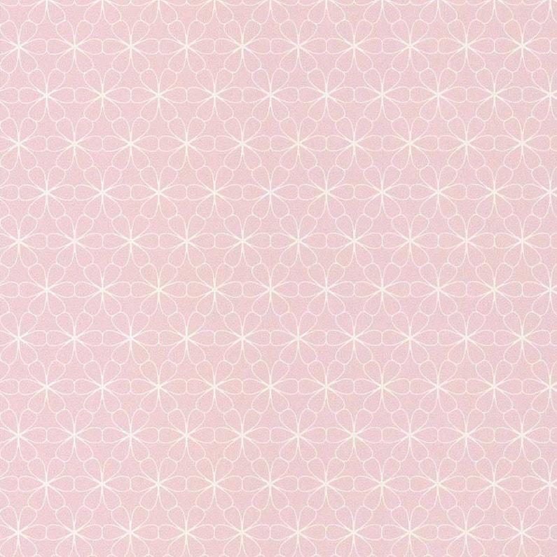 Papier Peint Intisse Fleur Scandi Rose Leroy Merlin