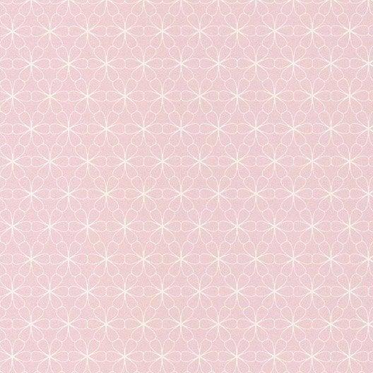 papier peint intiss fleur scandi rose leroy merlin. Black Bedroom Furniture Sets. Home Design Ideas