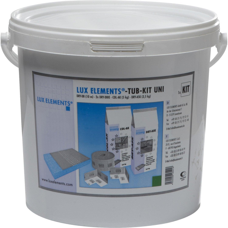 Kit De Montage Pour Receveur Lux Elements With Receveur De Douche Carreler  Leroy Merlin