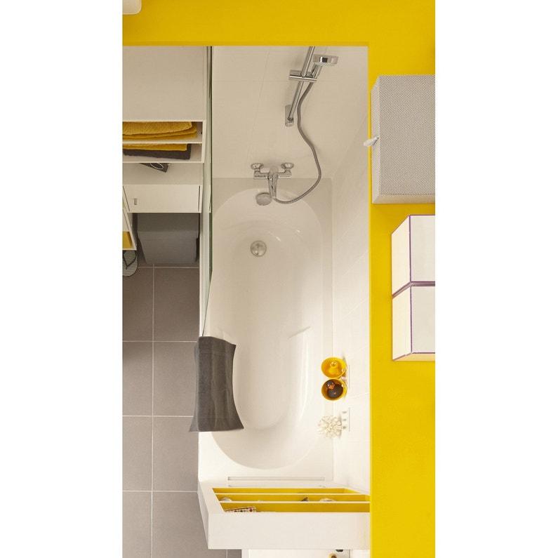 Baignoire Rectangulaire L160x L70 Cm Blanc Sensea Access Confort