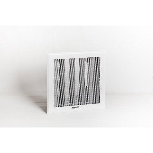 grille de ventilation obturable acier époxy equation diam.150 mm