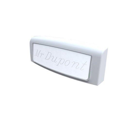 Bouton de sonnette filaire scs sentinel golf 8502 blanc leroy merlin - Bouton poussoir pour sonnette ...