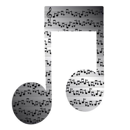Miroir en plexiglass note musique 10 cm x 10 cm leroy merlin for Miroir de la musique