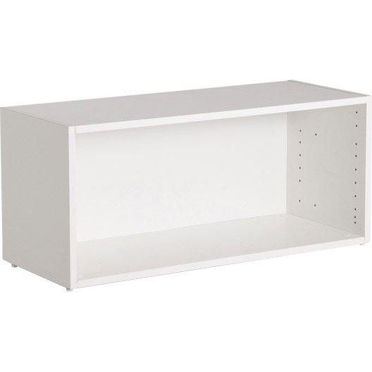Etag re faible profondeur spaceo interior blanc l80 x h35 x p16cm leroy merlin - Etagere faible profondeur ...
