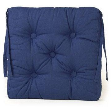 Galette de chaise coussin d 39 assise leroy merlin for Chaise de jardin bleu marine