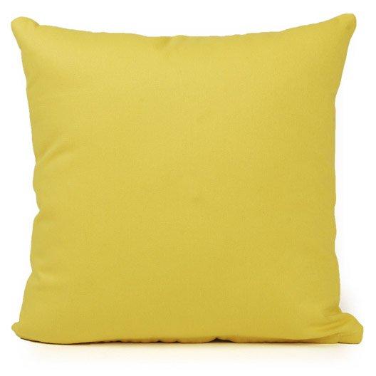 Coussin Bachet INSPIRE, jaune anis n°5, l.40 x H.40 cm