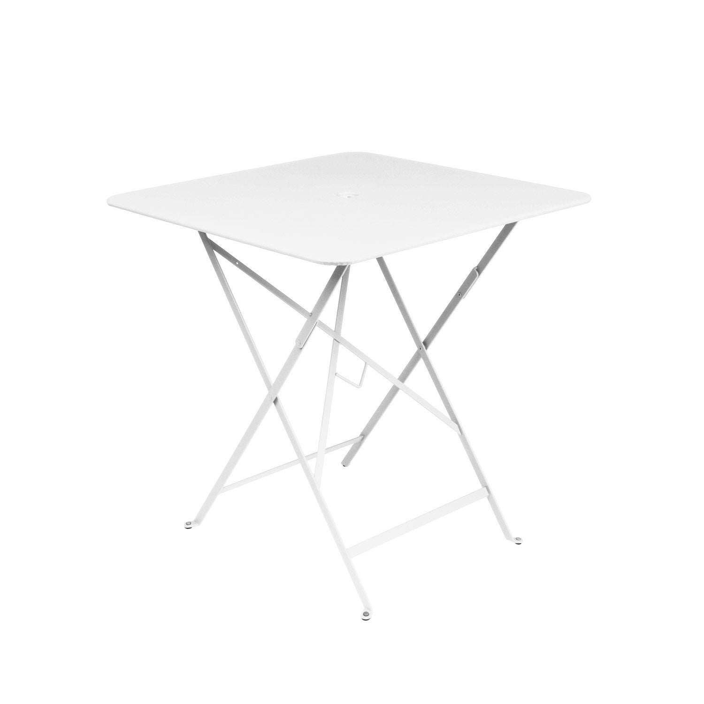 Table de jardin de repas FERMOB Bistro carrée blanc 2 personnes ...