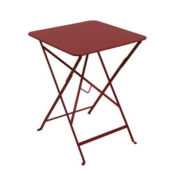 Table de jardin aluminium bois r sine leroy merlin for Table exterieur zinc