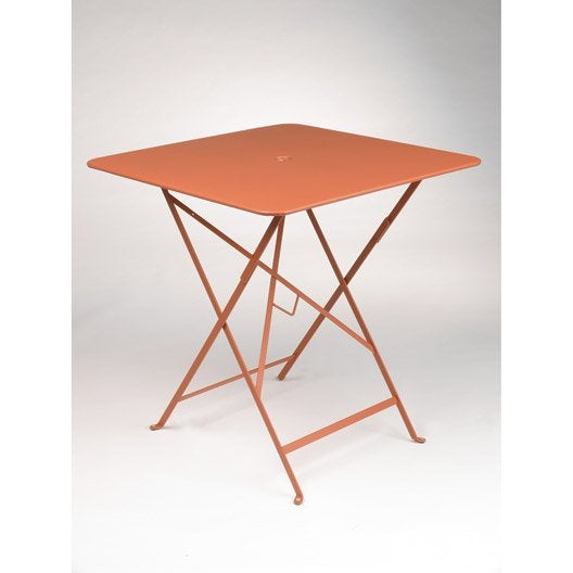 Table de jardin fermob bistro carr e paprika leroy merlin for Table de jardin bistrot