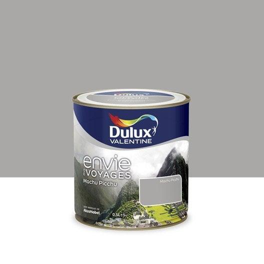 Peinture envie de voyage dulux valentine gris machu for Peinture sejour gris