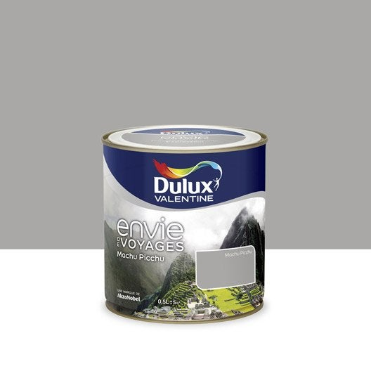 Peinture gris machu picchu moyen dulux valentine envie de for Peinture sejour gris