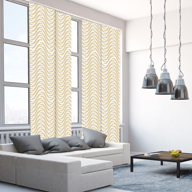 Canapé Multi Couleur se rapportant à panneau japonais, vagues multicouleur, h.250 x l.50 cm | leroy merlin