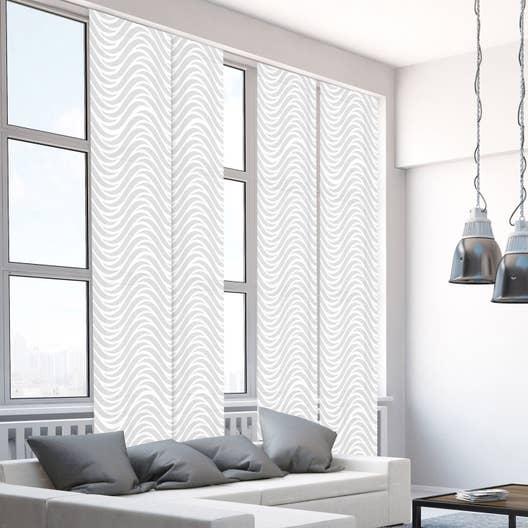 panneau japonais vagues argent x cm leroy merlin. Black Bedroom Furniture Sets. Home Design Ideas