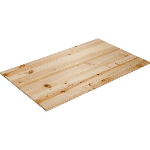 plateau de table pin x cm x mm leroy merlin. Black Bedroom Furniture Sets. Home Design Ideas