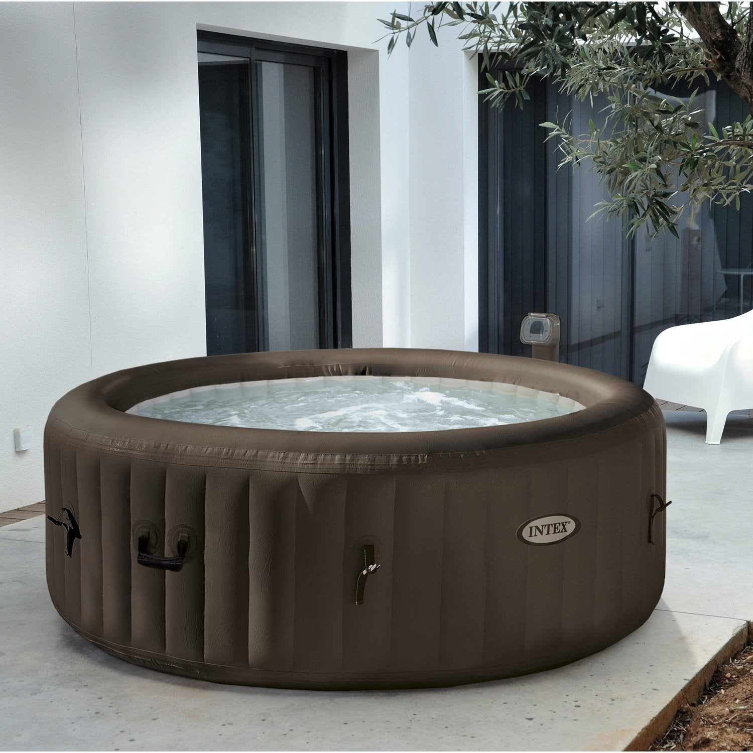 spa gonflable intex purespa jets rond, 4 places assises | leroy merlin