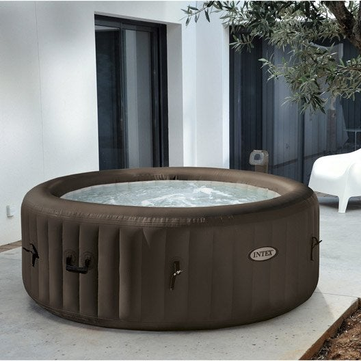 spa gonflable intex purespa jets rond 4 places assises leroy merlin. Black Bedroom Furniture Sets. Home Design Ideas