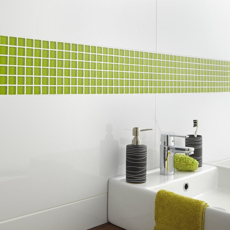 Mosaïque mur Glass dom vert pistache n°5 2.2 x 2.2 cm | Leroy Merlin