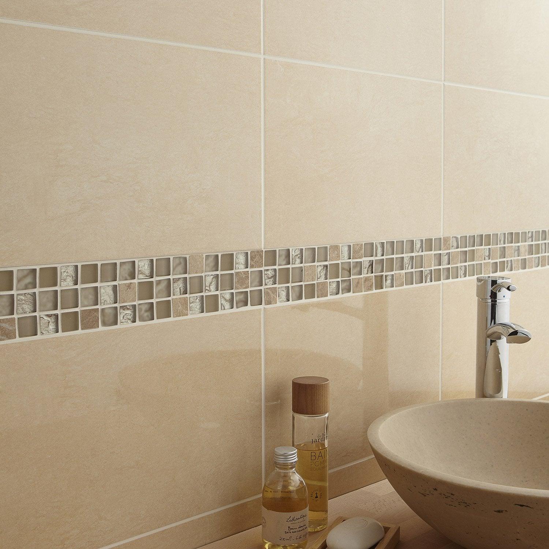 Mosaïque Mur Fusion Feta Beige X Cm Leroy Merlin - Plaque mosaique salle de bain