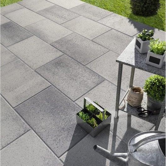 Dalle Bton Dalle Airial X X Cm Gris Granit Traite With Dalle Exterieur  Leroy Merlin.