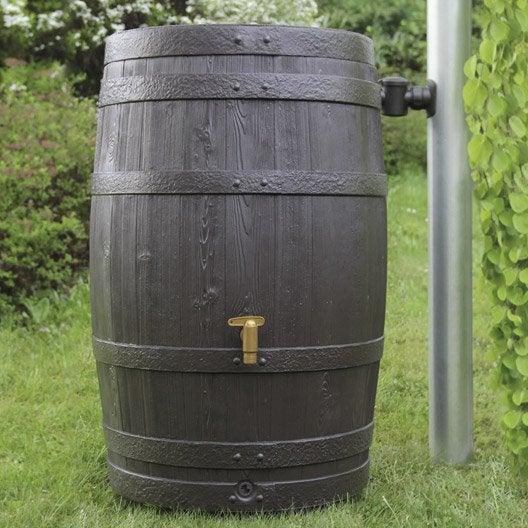 récupérateur d'eau aérien garantia cylindrique brun , 250 l
