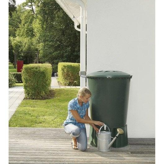 récupérateur d'eau et collecteur aérien garantia cylindrique vert
