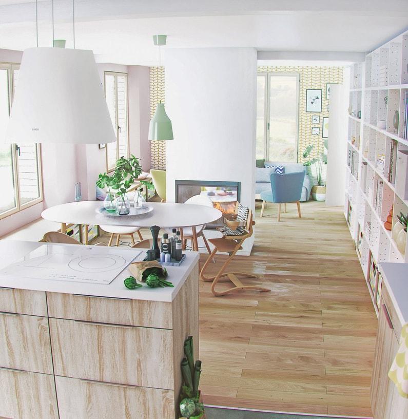Une cuisine ouverte qui offre un point de vue imprenable for Offre cuisine