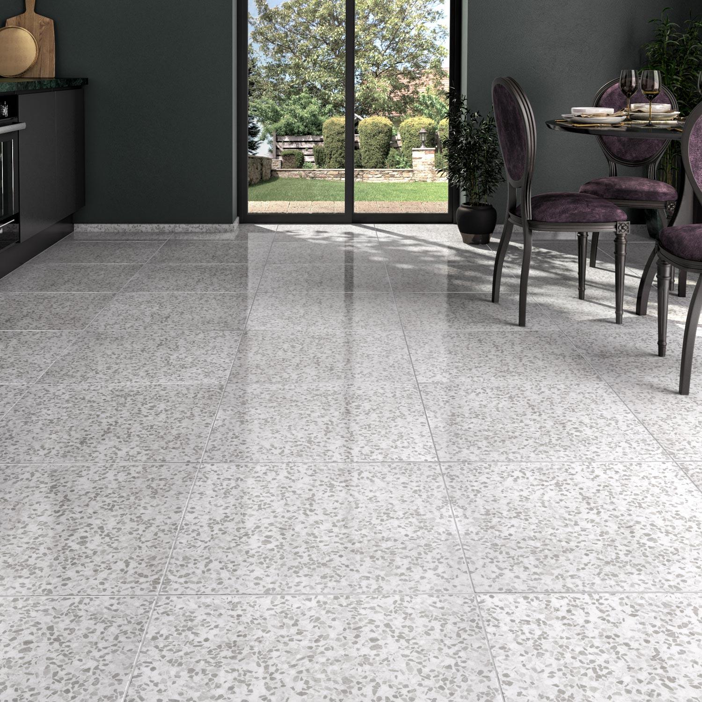 Carrelage sol et mur gris effet marbre Palazzio l60 x L60 cm ...